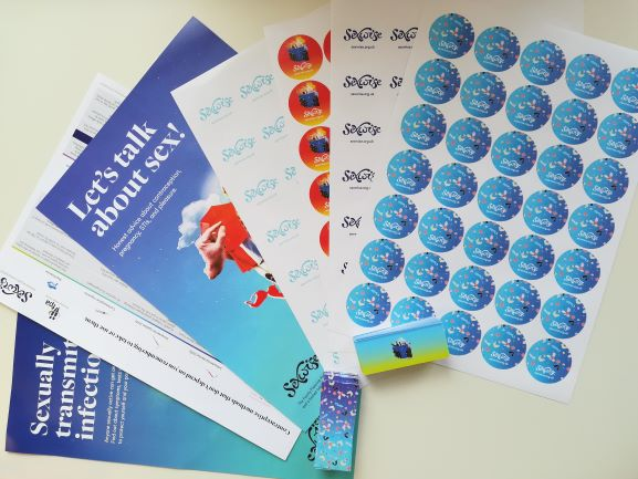 Image of leaflets, posters and stickers