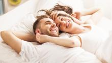 couple lying in bed together
